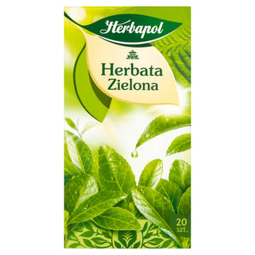 Herbapol - Herbata zielona 20 torebek. Wyjątkowy smak i aromat.