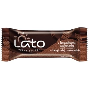 LATO PEŁNE SŁOŃCA Baton twarogowy Belgijska czekolada z czekoladą 40g