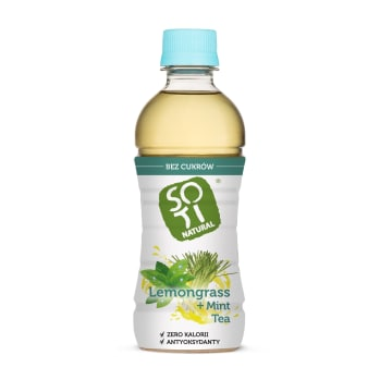 SOTI NATURAL Napój herbata mięta i trawa cytrus niesłodzona BIO 340ml
