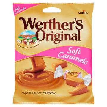 WERTHER'S Soft Caramels Miękkie cukierki karmelowe 75g