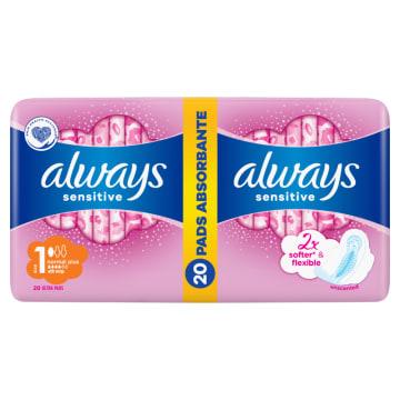 Always Ultra Sensitive - Podpaski ze skrzydełkami. Gwarancja uczucia suchości i komfortu.