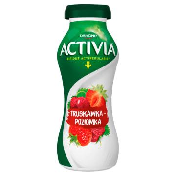 Danone Activia - Jogurt truskawka poziomka. Pyszna i zdrowa przekąska.