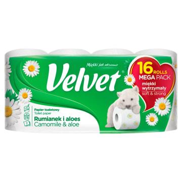 VELVET Papier toaletowy 16 rolek Rumianek i Aloes 1szt