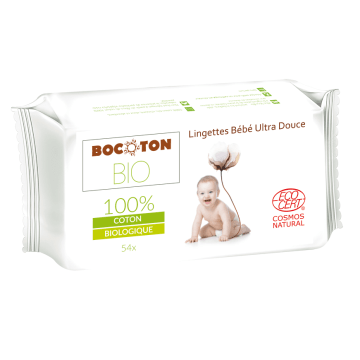 BOCOTON Chusteczki nawilżane dla dzieci i niemowląt 54 szt. BIO 1szt