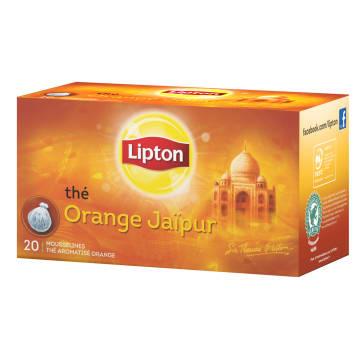 LIPTON Herbata czarna aromatyzowana Orange Jaipur 20 torebek 40g