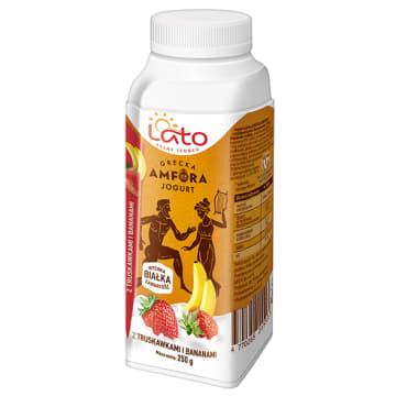 LATO PEŁNE SŁOŃCA Grecki jogurt pitny o smaku truskawka-banan 250ml