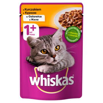 Whiskas – Pokarm dla kotów z kurczakiem w galaretce w saszetce zapewni kotu pożywny posiłek.