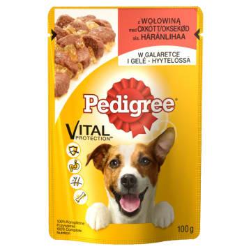 Pedigree - Pokarm dla psów z wołowiną w galaretce. Gwarancja zadowolenia czworonogów.