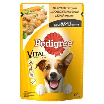Pedigree - Karma dla psów z kurczakiem i warzywami 100g to źródło białka i substancji odżywczych.