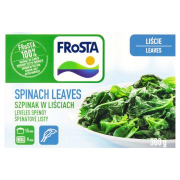 Frosta - Szpinak w liściach mrożony. Zamrożone młode liście szpinaku bez przypraw.
