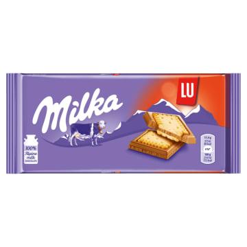 Czekolada mleczna z ciasteczkami Lu 87g - Milka
