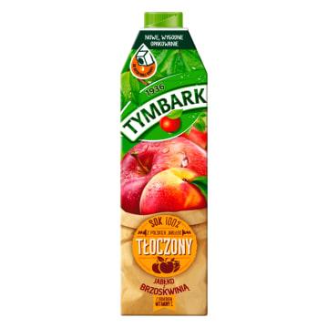 TYMBARK Sok 100% tłoczony z jabłek z brzoskwinią z witaminą C 1l