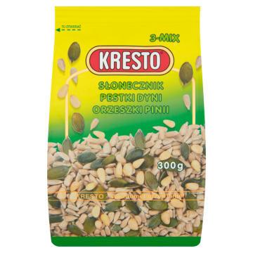 KRESTO Mieszanka nasion - słonecznik, dynia, orzechy pinii 300g