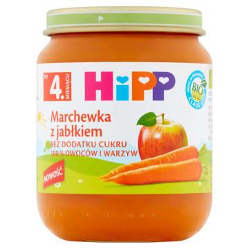 HIPP BIO Marchewka z jabłkiem po 4 miesiącu 125g