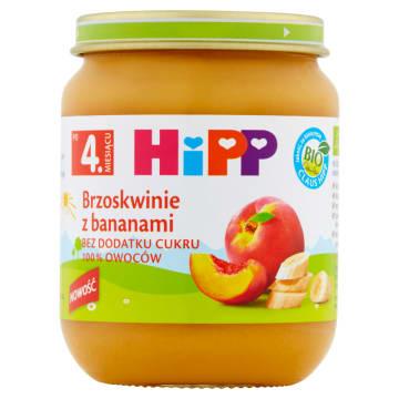 HIPP BIO Brzoskwinie z bananami  BIO  po 4 miesiącu 125g