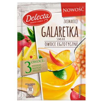 DELECTA Galaretka smak owoce egzotyczne 75g