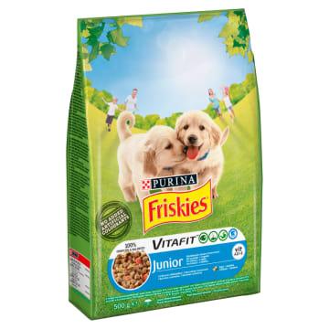 FRISKIES Junior Sucha karma dla psów z kurczakiem i warzywami 500g