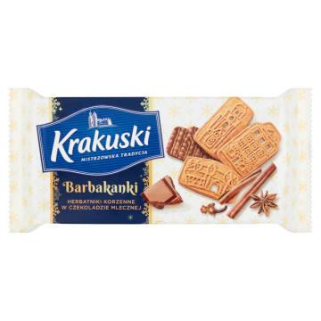 BAHLSEN Krakuski Barbakanki Herbatniki korzenne w czekoladzie mlecznej 150g