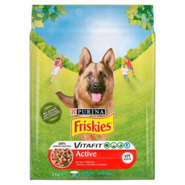 FRISKIES Vitafit Active Sucha karma dla psów z wołowiną 3kg