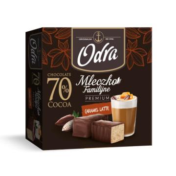 ODRA Familijne Mleczko Premium o smaku  Caramel Latte 320g