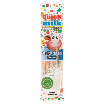 QUICK MILK Rurki do picia mleka owocowe 5 szt. 30g