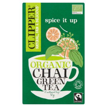 Zielona herbata - Clipper Chai. Wyjątkowo orzeźwiający smak i aromat.