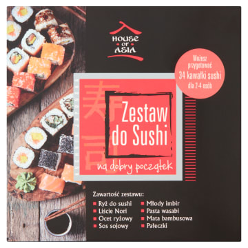 Zestaw do sushi - House of Asia idealny dla każdego miłośnika azjatyckiej kuchni.