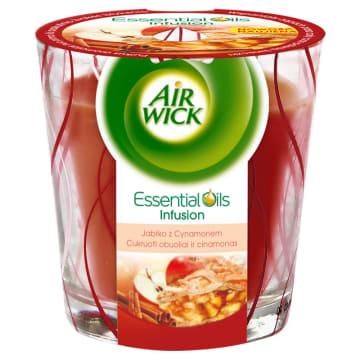 AIR WICK Essential Oils Infusion Świeca zapachowa Jabłko z Cynamonem 105g