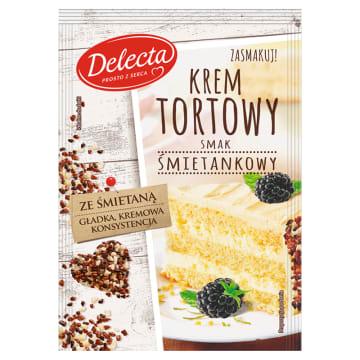 DELECTA Krem tortowy smak śmietankowy 120g