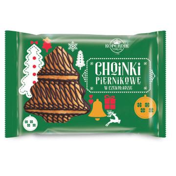 KOPERNIK Choinki piernikowe w czekoladzie 130g