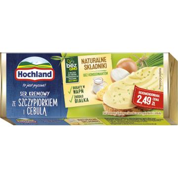 Ser topiony ze szczypiorkiem i cebulą – Hochland wspaniały dodatek do kanapek.