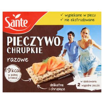 Chrupkie pieczywo razowe – Sante to niskokaloryczny i naturalny produkt w wygodnym opakowaniu.