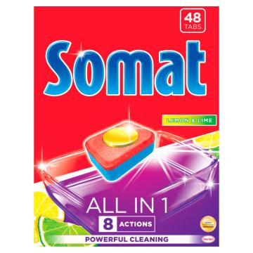 SOMAT All in 1 Tabletki do zmywarek Lemon & Lime 48 szt. 1szt