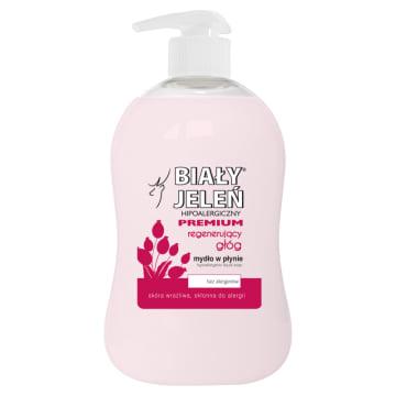 Mydło w płynie z ekstraktem z głogu 300 ml - Biały Jeleń - do codziennej pielęgnacji skóry z alergią
