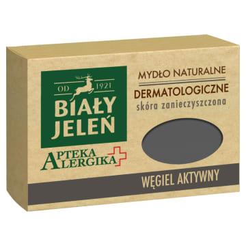 BIAŁY JELEŃ Apteka Alergika Mydło dermatologiczne z węglem aktywnym 125g