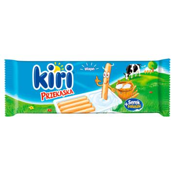 Przekąska Serek+paluszki - Kiri. To połączenie dwóch ciekawych smaków.