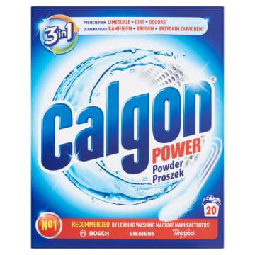 Proszek do zmiękczania wody - Calgon 2w1. Pozostawia pralkę czystą, bez kamienia.