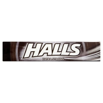 HALLS Extra Strong Dropsy o smaku mentolowo-eukaliptusowym 34g