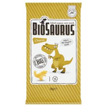 Chrupki kukurydziane, smak serowy 50g - Bio Saurus