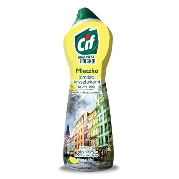 Mleczko do czyszczenia - Cif. Uniwersalne mleczko czyszczące o cytrynowym zapachu.