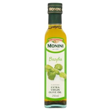 Monini - Oliwa z oliwek Extra Vergine z bazylią 250ml - oliwa z aromatem bazylii