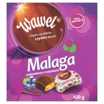 Bombonierka Malaga śmietankowa z rodzynkami - Wawel