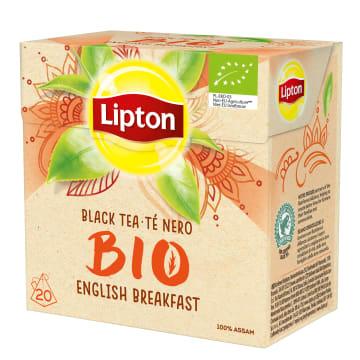 LIPTON English Breakfast Herbata czarna BIO 20 piramidek 36g