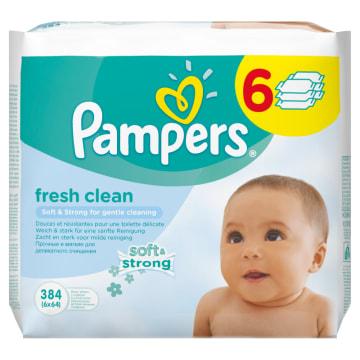 Chusteczki pielęgnacyjne 6 x 64 szt - Pampers. Ochrona i pielęgnacja dla najmłodszych.
