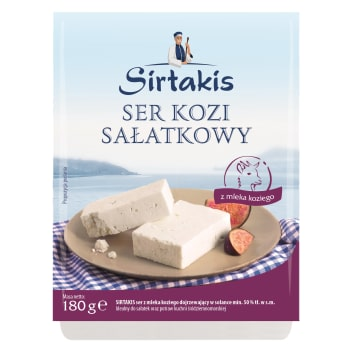 Ser sałatkowy kozi - Sirtakis. Aromatyczny ser dla prawdziwych smakoszy.