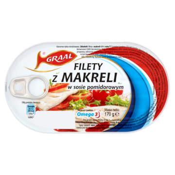 GRAAL Filety z makreli w sosie pomidorowym 170g