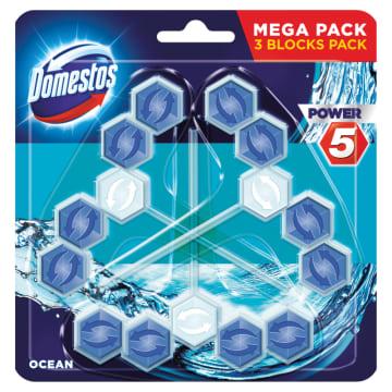 DOMESTOS Power 5 Kostka toaletowa Ocean (3x55g) 1szt
