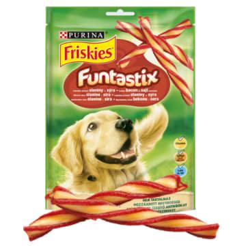 FRISKIES Funtastix Przysmak dla psów wyśmienity smak bekonu i sera 175g