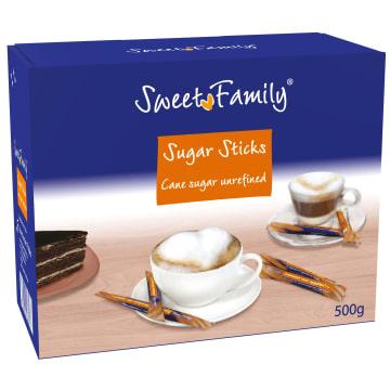 SWEET FAMILY Cukier trzcinowy (saszetki) 500g