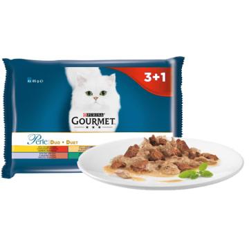 """Pokarm dla kotów """"Mięsny duet"""" - Gourmet Gold. Wykwintna uczta dla Twojego pupila."""